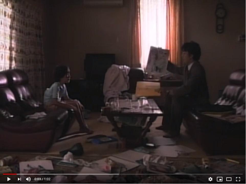 呪怨(ビデオオリジナル版)(1999年)のシーン1