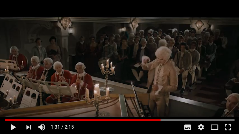 プラハのモーツァルト誘惑のマスカレードのシーン2