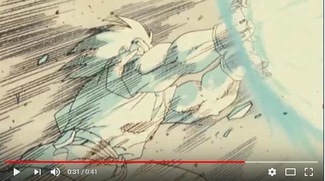ドラゴンボールZ超サイヤ人だ孫悟空のシーン3