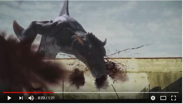 シャークトパスVS狼鯨のシーン3