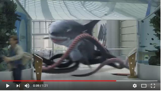 シャークトパスVS狼鯨のシーン2