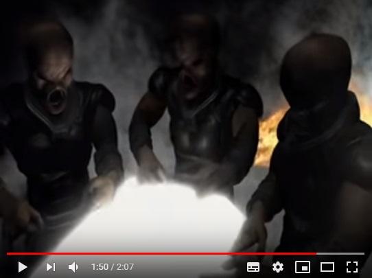 パニックインベガスエイリアン襲来のシーン3